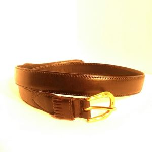 CHRISTIAN DIOR Full Grain Leather Belt